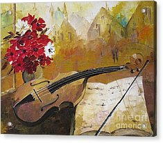 Music Acrylic Print by AmaS Art