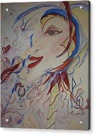 Music And Rune Jester Acrylic Print by Marian Hebert
