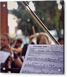 #music #bow #musicians #instruments Acrylic Print