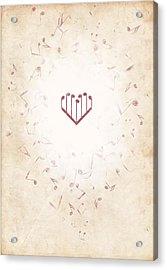 Music Heart Warm Acrylic Print by Luka Balic