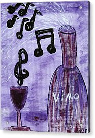 Music In My Glass Acrylic Print