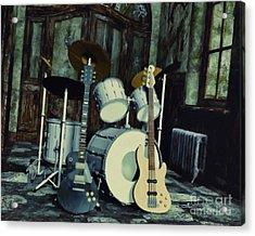 Music Is Everywhere Acrylic Print by Jutta Maria Pusl