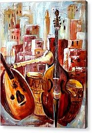 Music Of Morocco Acrylic Print by Patricia Rachidi