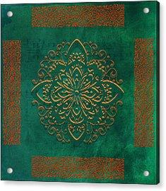 Musical Autumn Tile Acrylic Print by Bonnie Bruno