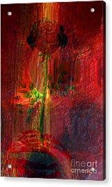 Musical Flower Acrylic Print by Fania Simon