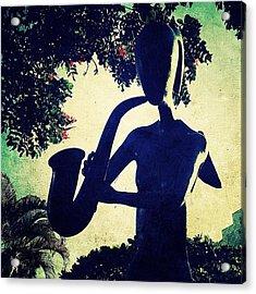 Musician Sculpture (puerto Vallarta) Acrylic Print