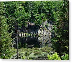 Acrylic Print featuring the mixed media Muskoka Pond by Bruce Ritchie