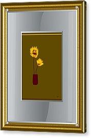 Mustard Vase Acrylic Print by Ines Garay-Colomba