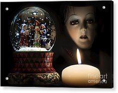 Acrylic Print featuring the digital art Muted Carol And Soul by Rosa Cobos