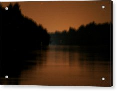 Muted River Moon Shine Acrylic Print by Artist Orange