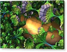 My Alien Garden Acrylic Print by Charles Jr Kunkle