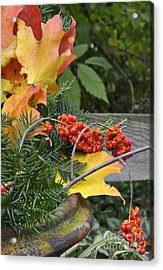 My Bittersweet Fall Acrylic Print by Mary Machare
