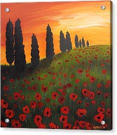 My Dear Tuscany Acrylic Print by Lynsie Petig