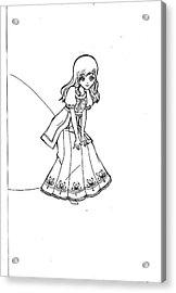 My Drawing 5 Acrylic Print by Miftahur Rizqiyah