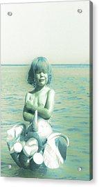 My Elephant - My Ocean - My World Acrylic Print by Li   van Saathoff