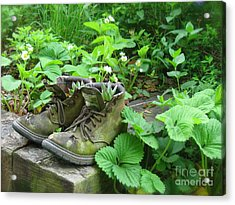 Acrylic Print featuring the photograph My Favorite Boots by Nancy Patterson