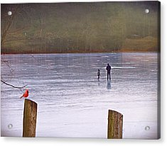 My First Walk On Water Acrylic Print