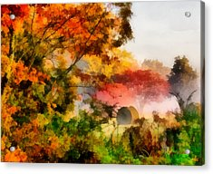 Acrylic Print featuring the painting My Front Yard by Lynne Jenkins