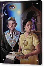 My Grandparents Acrylic Print by Miguel Tio