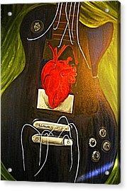 My Heart Is Music Acrylic Print by Cristin Chambers