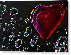 Acrylic Print featuring the photograph My Heart by Sylvie Leandre