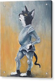 My Kingdom For Some Catnip Acrylic Print by Robin Wiesneth