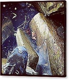 My Left Foot! #hudson #impressionist Acrylic Print