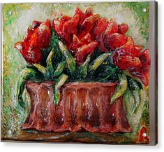My Little Tulips  Acrylic Print