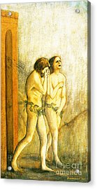 My Masaccio Expulsion Of Adam And Eve Acrylic Print by Jerome Stumphauzer