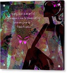 My Own Picasso Acrylic Print by Fania Simon