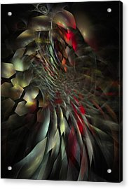 Acrylic Print featuring the digital art My Own Way To Burn by NirvanaBlues