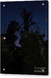 My Personal Backyard Moon Acrylic Print
