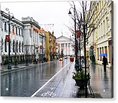 My Rainy City Acrylic Print