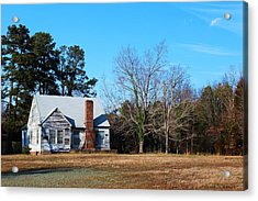 Acrylic Print featuring the photograph My Red Chimeny 2 by Bob Whitt