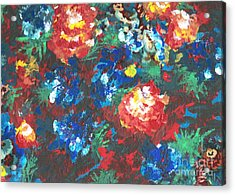 Acrylic Print featuring the painting My Sister's Garden II by Alys Caviness-Gober