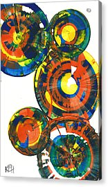Acrylic Print featuring the painting My Spheres Show Happiness  864.121811 by Kris Haas