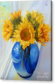 My Sunflowers Acrylic Print by Marlene Book
