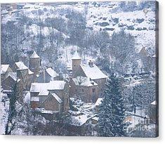 My Village Bozouls Acrylic Print by Sylvie Leandre