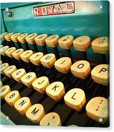 My #vintage #royal #typewriter #aqua Acrylic Print