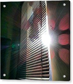 My #window In #morning #sunshine #sun Acrylic Print