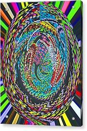 My World Acrylic Print by Vijay Sharon Govender