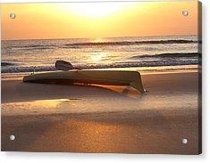 My Yellow Kayak Acrylic Print