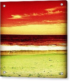 #myrtlebeach #ocean #colourful Acrylic Print