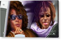 Myself And I - Whitney Acrylic Print by Reggie Duffie