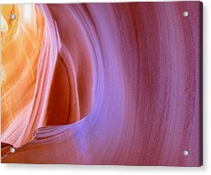 Mysterious Magnificent Antelope Canyon Acrylic Print by Christine Till