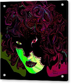 Mysterious Masquerade Acrylic Print by Natalie Holland