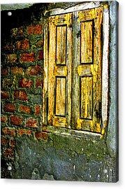 Mysterious Window Acrylic Print by Makarand Purohit