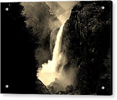 Mystery Falls Acrylic Print by Ellen Heaverlo