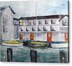 Mystic Harbor Acrylic Print by Linda Pope