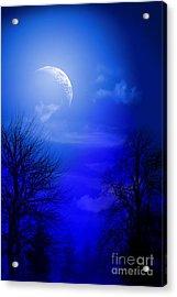 Mystic Night Acrylic Print by Mark Ashkenazi